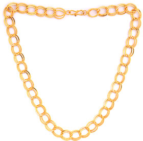 Sparkling 22' Inch Gold Plated High Quality Men Chain