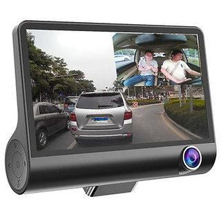Callmate WDR Dashcam 3 Camera Lens Video Car DVR Full HD 1080 P -Black