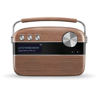 Saregama Carvaan SC02 Portable Digital Music Player (Oak Wood Brown)