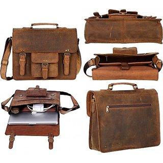 Buy Duhita Leather Laptop Messenger Bag Satchel Laptop Briefcase ... dacd9dbfb5ac1