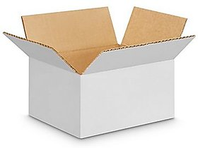 EZH Corrugated 9x6x3 Inch White 3 Ply Pack of 25