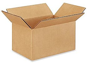 EZH Corrugated 7X5X4 Inch Brown 3 Ply Pack of 25 Boxes