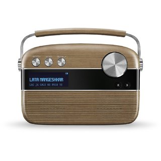 Saregama Carvaan SC02 Portable Digital Music Player (Wallnut Brown)