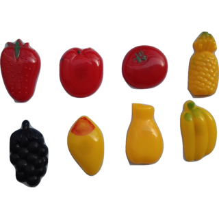 Vanyas Fruit Shape Fridge Magnet (Pack Of 8)