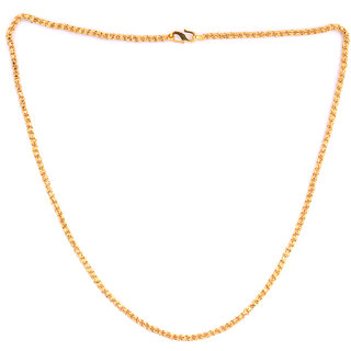 22' inch  High Quality Brass Gold Plated Unisex Chain by Sparkling Jewellery