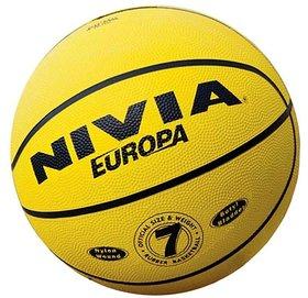 NIVIA EUROPA BASKETBALL SIZE 7 (MULTI DESIGN RUBBER)