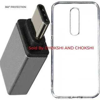 OnePlus 6 Soft Rubberised Back Case Cover With Free Type C OTG