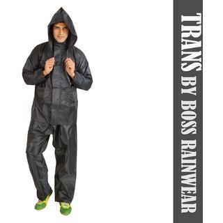 branded Reversible Trans Gents Rain Suit coat jaket Pant For Mens Size - XL Colour- Assorted