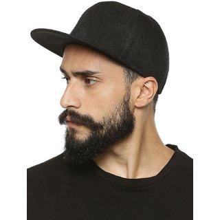 HuntsMan Black Cotton Sports Caps