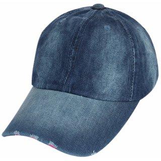 Buy ILU Plain Denim cap Baseball cap Sport cap Caps for Men Women ... f4b0eafd898d