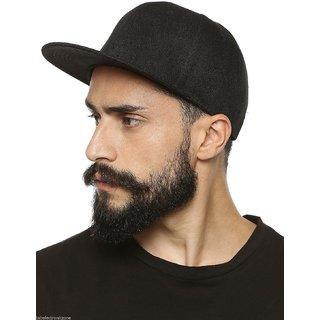 0b5705c49ee Buy Trendy Look Black Plain Hip Hop Snapback Cap For All Cool Guys Online -  Get 28% Off