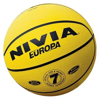 NIVIA EUROPA BASKETBALL SIZE 7 (MULTI DESIGN RUBBER)