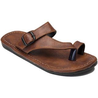 Metmo Men's Tan Casual Slippers