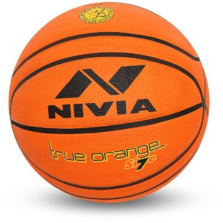 Nivia True Orange 14P Rubberized Basketball Size-7