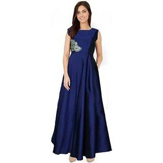 New Latest Bollywood Designer Blue Fancy Western Party Wear Gown