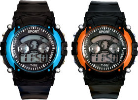 Digital Watch Combo For Boys ( Mixed Colors)