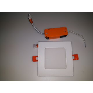 6WATT SLIM PANEL-SQUARE LED LIGHT,  COOL WHITE,  (KURHADE ELECTRICAL INDUSTRIES)