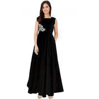 New Latest Bollywood Designer Black Fancy Western Party Wear Gown