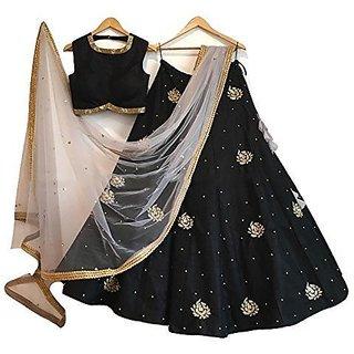 New Latest Bollywood Designer Black Embroidered Lehenga Choli