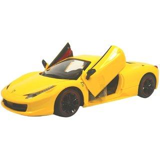 RC Powerful Racing Car - 458 Series Super Car (Yellow)