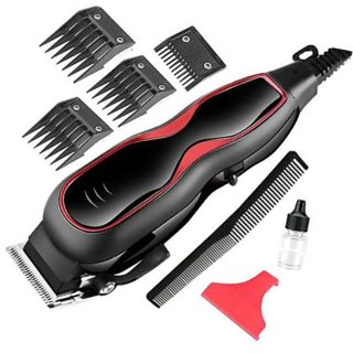 Hair Clipper and Trimmer-Corded Hair Clipper -Trimmer for Men-Hair Clipper - Professional Trimmer- Kemei KM 1027 (Black)