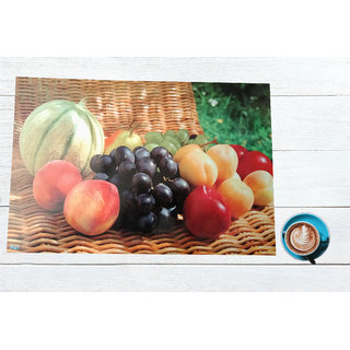 Welhouse India Digital Printed PVC Dining table 6 Placemats