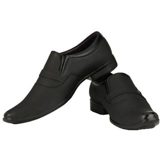 Artificial Leather Black Formal Shoes