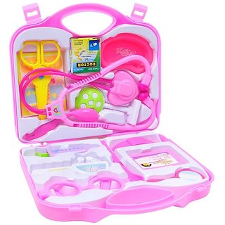 Pepperonz Child Family Mini Medical Doctor Play Set For Kids With Durable Case