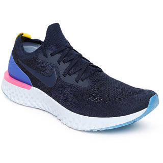 premium selection 513a4 23440 Nike Navy Epic React Flyknit Navy Running Shoes