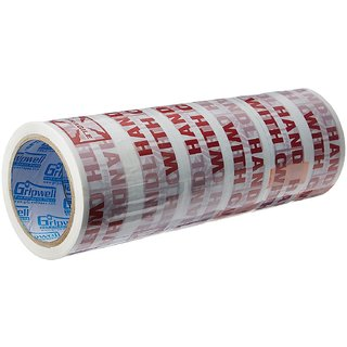 Self Adhesive Tape 48mm65m (FRAGILE HANDLE WITH CARE)----Pack of 6