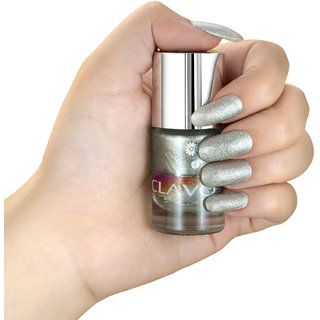 Clavo Special Effects Glitter Nail Polish Silver ( Robo Suit) 11ml