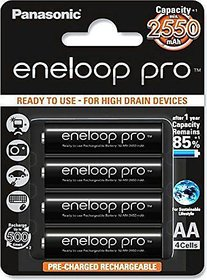 Panasonic Eneloop Pro 2550mAh AA Rechargeable Battery 4xAA