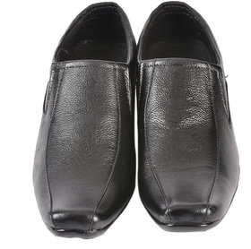 Altitude Men's Black Leather Formal Slip On Shoes