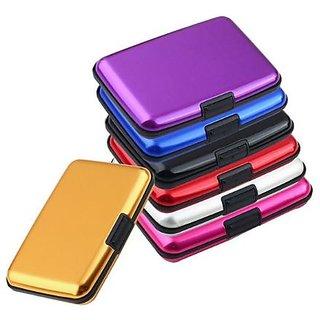 kudos Portable Popular Aluma Metal Aluminum Wallet for Business Credit Card Holder (pack of 1)