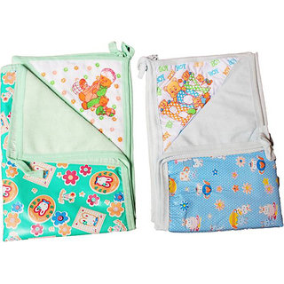 Nappy Changing Mat cum Baby Wrapper for o to 6 month babies (65 cm 43 cm) (Pack of 2). (Assorted Color Design)
