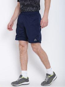 Reebok Men Polyester Navy Workout Sports Shorts