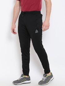 Reebok Black Polyester Running Trackpant For Men