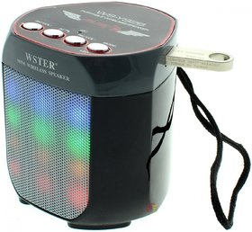 RODEX WS-Y92B Disco Light Outdoor Wireless Portable Bluetooth Mobile/Tablet Speaker(Black, Mono Channel)