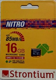 Strontium Nitro 16 GB MicroSD Card Class 10 85 MB/s Memory Card