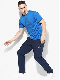 Reebok Navy Polyester Trackpant For Men