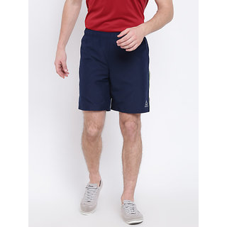 Reebok Navy Polyester Lycra Walking Shorts