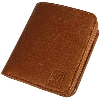 WENZEST Tan Mens Leather Wallet (L-Tangittak) (Synthetic leather/Rexine)