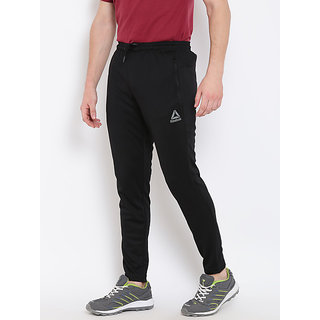Reebok Black Polyester Running Trackpant For Men