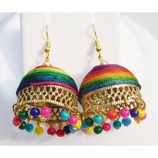 Colorful Fancy trendy Earrings (1 Pair) (Free Transparent Box with this Earrings)