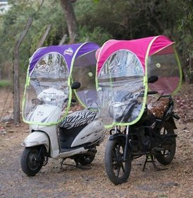 SAIMA Universal Scooter / Bike Wet  Dry Umbrella all seasons polyester rainy summer For all 2 Wheeler (Set of 1)