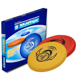 Wintex Pack of 2 Pcs High Quality Frisbee Flying Disc Medium Size for Out Door Gaming and Adventure (Multicolor)