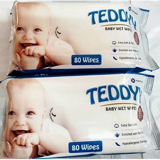 TEDDYY BABY WIPES 80 PCS --PACK OF 3