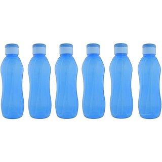 Cello Aqua cool Pp Bottle 1000 Ml (Set Of 6) Blue