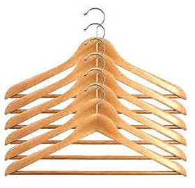 SAIMA Set Of 12 Wooden Hangers with ANTI SKID BAR