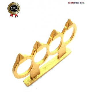 Nishdeals Yellow Alloy Boxing Knuckle